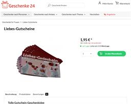 Geschenke24 gift card purchase