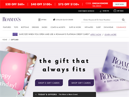 Roamans gift card balance check