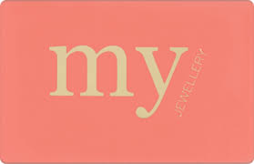 My Jewellery gift card design and art work