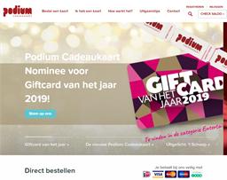 Podium Cadeaukaart gift card purchase
