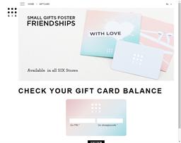 Click Six gift card balance check