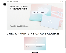 Click Six gift card purchase