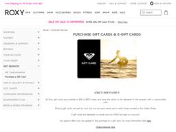 Roxy gift card balance check