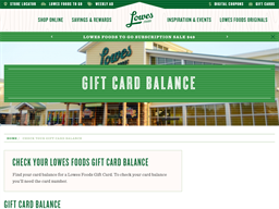 Lowes Foods gift card balance check