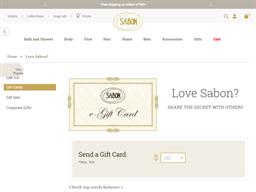 Sabon NYC gift card balance check