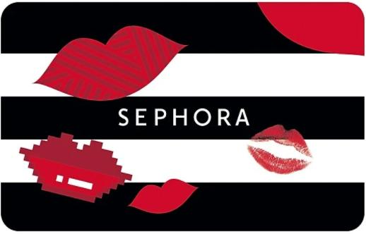 Sephora gift card design and art work
