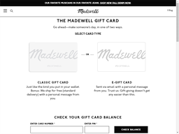 Madewell gift card purchase