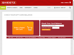 Sheetz gift card balance check