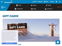 Mammoth Mountain Ski Area gift card purchase
