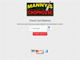 Manny's Chophouse gift card purchase