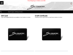 Ski Country Sports gift card balance check