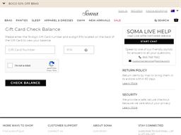 Soma Intimates gift card balance check