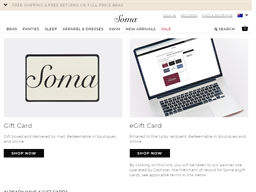 Soma Intimates gift card purchase