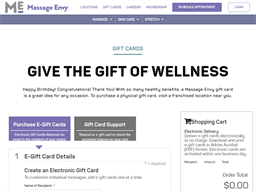Massage Envy gift card balance check