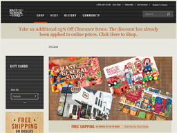 Mast General Store gift card purchase