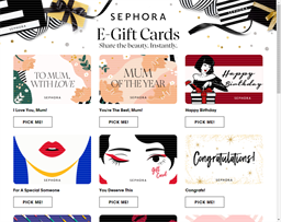 Sephora gift card purchase