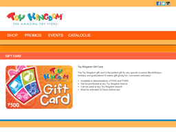 Toy Kingdom gift card purchase