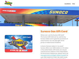 Sunoco Gas gift card purchase