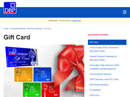 Development Bank of the Philippines gift card purchase