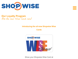Shopwise Wise Cards gift card purchase