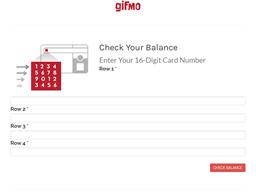 Gifmo gift card balance check