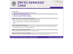 Swirl Rewards gift card purchase