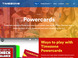 Timezone Powercards gift card purchase