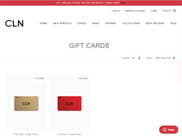 CLN gift card purchase