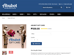Abubot gift card purchase
