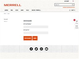 Merrell gift card balance check