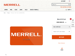 Merrell gift card purchase
