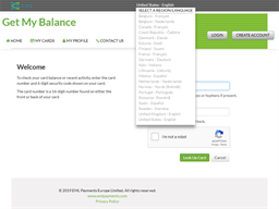 Metro Centre gift card balance check