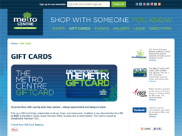 Metro Centre gift card purchase