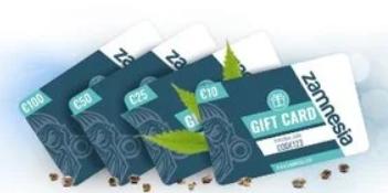 Zamnesia gift card design and art work