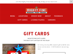 Mighty Fine Burgers gift card purchase