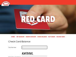 Mighty Taco gift card balance check