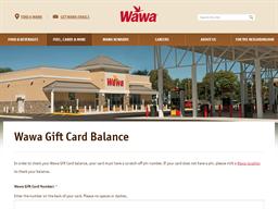 Wawa gift card balance check