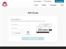 Wendys gift card balance check