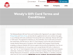 Wendys gift card purchase