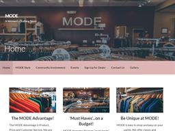 Mode Stores shopping