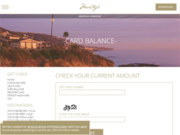 Montage Hotels & Resorts gift card balance check