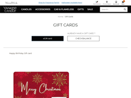 Yankee Candle gift card purchase