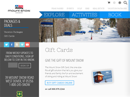 Mount Snow gift card purchase