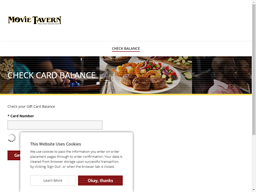 Movie Tavern gift card balance check