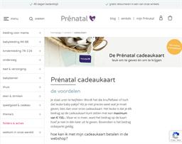 Prénatal gift card purchase