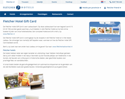 Fletcher Hotels gift card purchase