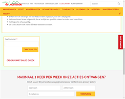 Tuincentrum de Oosteinde gift card balance check