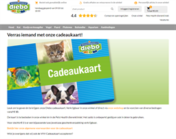 Huisdierwereld diebo gift card purchase