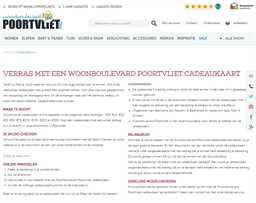 Woonboulevard Poortvliet gift card purchase