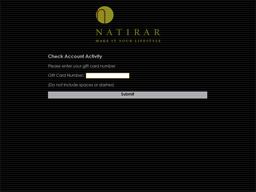 Natirar Ninety Acres gift card balance check